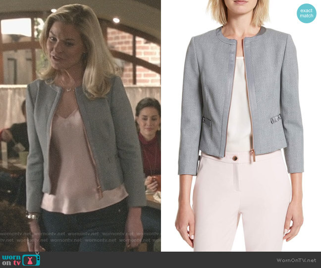 'Nadae' Jacket by Ted Baker worn by Kylee Evans on Good Witch