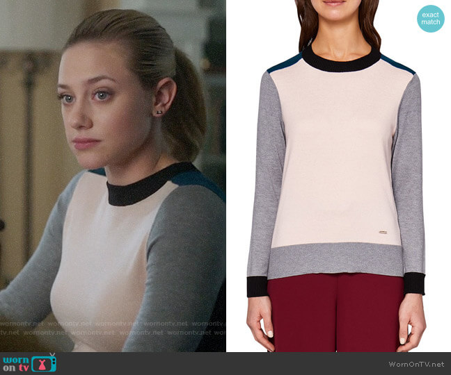 Ted Baker Avrilyn Sweater worn by Betty Cooper (Lili Reinhart) on Riverdale