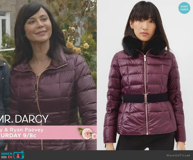 Junnie Quilted Down Filled Jacket by Ted Baker worn by Catherine Bell on Good Witch