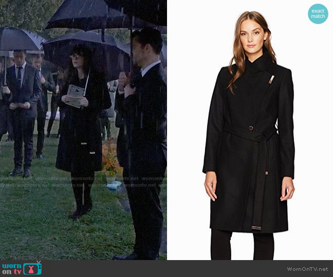 Ted Baker Kikiie Coat worn by Zooey Deschanel on New Girl