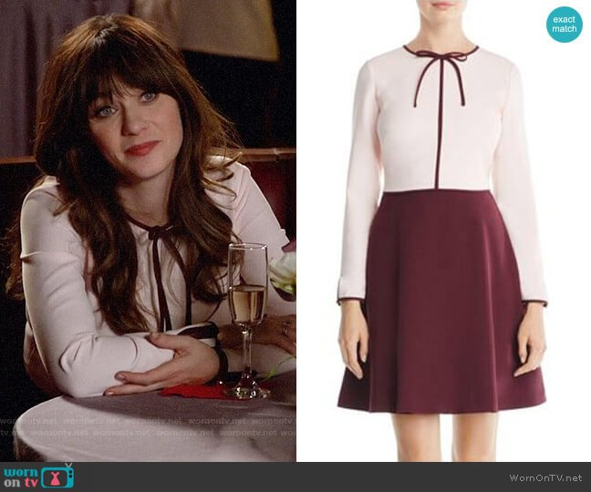 Ted Baker Loozy Dress worn by Zooey Deschanel on New Girl