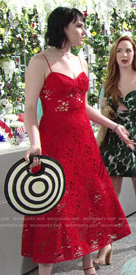 Tessa's Memorial Day outfit on The Young and the Restless