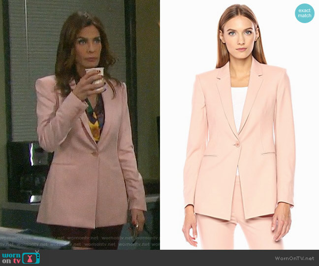 Theory Power Blazer worn by Kristian Alfonso on Days of our Lives