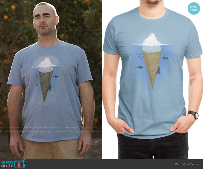 Threadless Hidden Part of Icebergs T-shirt worn by Will Forte on Last Man On Earth