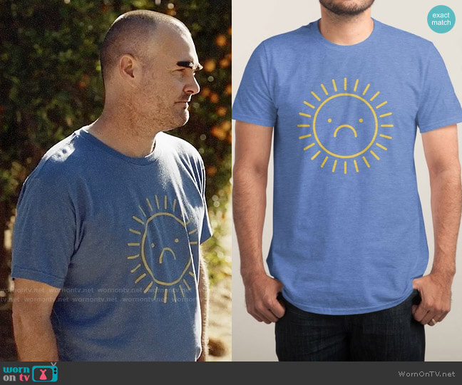 Threadless Sad Sun T-shirt worn by Phil Miller (Will Forte) on Last Man On Earth