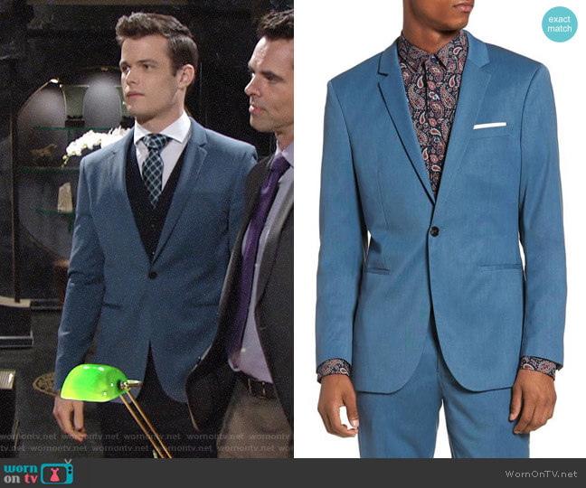 Topman Skinny Fit Suit Jacket worn by Michael Mealor on The Young & the Restless