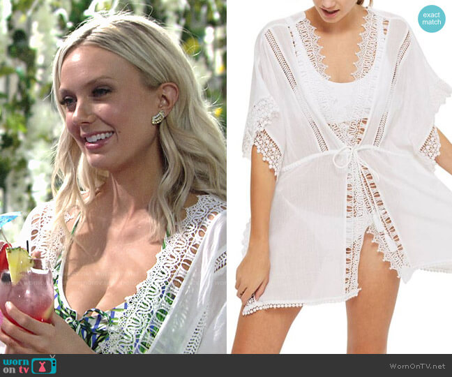 Topshop V-Neck Cover-Up Caftan worn by Abby Newman (Melissa Ordway) on The Young & the Restless