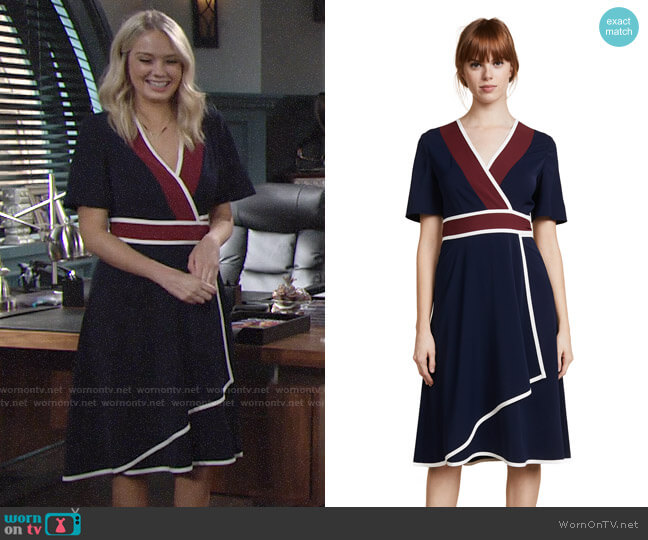 Tory Burch Peggy Wrap Dress worn by Melissa Ordway on The Young & the Restless