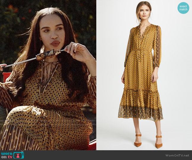 Ulla Johnson Clementine Dress worn by Cleopatra Coleman on Last Man On Earth