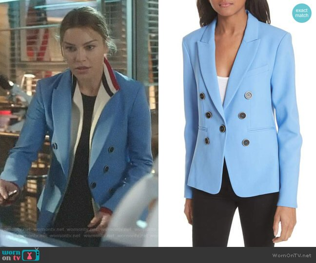 'Colson' Blazer by Veronica Beard worn by Lauren German on Lucifer