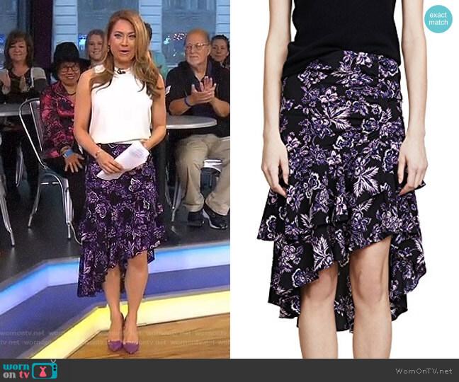 'Dane' Skirt by Veronica Beard worn by Ginger Zee  on Good Morning America