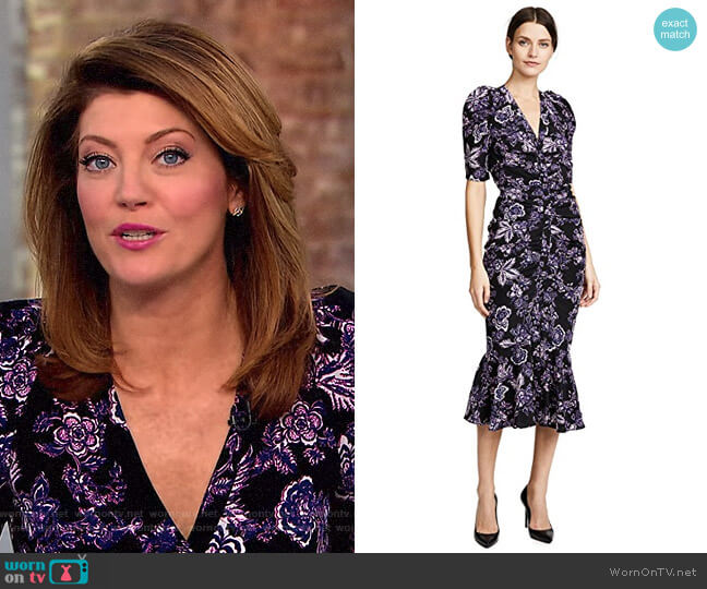 'Kent' Dress by Veronica Beard worn by Norah O'Donnell on CBS This Morning