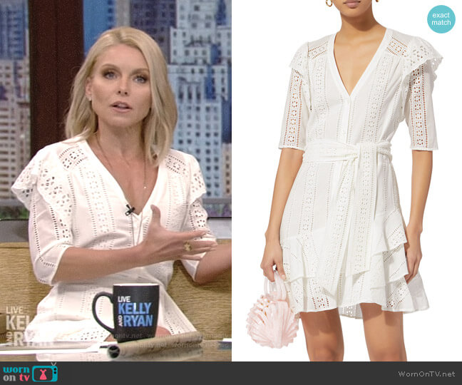'Sima' Dress by Veronica Beard worn by Kelly Ripa  on Live with Kelly & Ryan