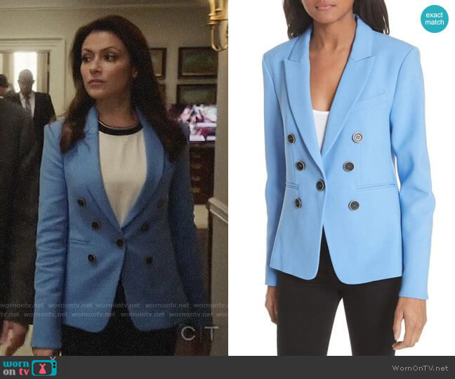 Veronica Beard Colson Blazer worn by Italia Ricci on Designated Survivor