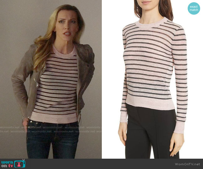 Veronica Beard Dean Sweater worn by Katie Cassidy on Arrow