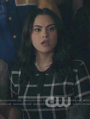 Veronica's black checked dress on Riverdale