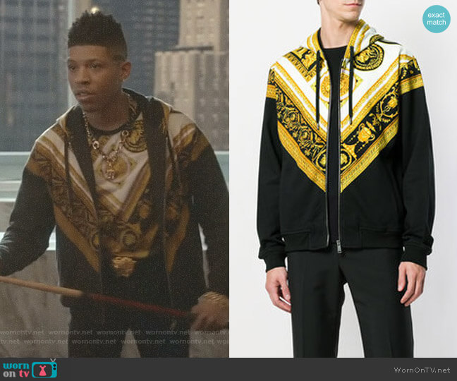 Cornici Print Hoodie by Versace worn by Bryshere Y. Gray on Empire