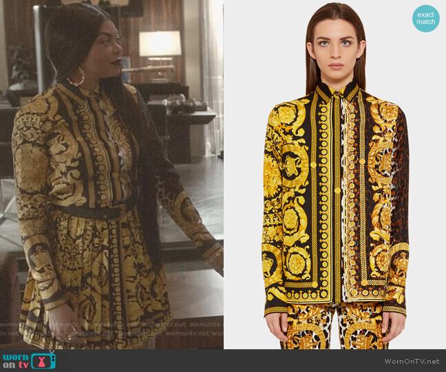 Wild Baroque SS'92 Print Shirt by Versace worn by Taraji P. Henson on Empire