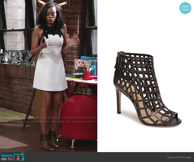 Via Spiga Elenora Booties worn by Hilary Curtis (Mishael Morgan) on The Young & the Restless