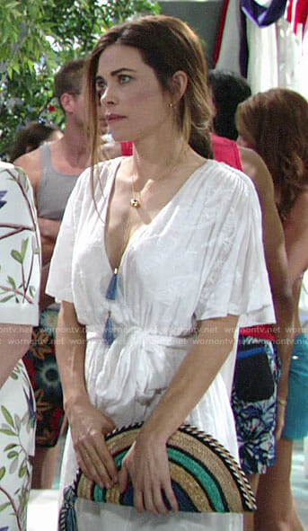 Victoria's white Memorial Day outfit on The Young and the Restless