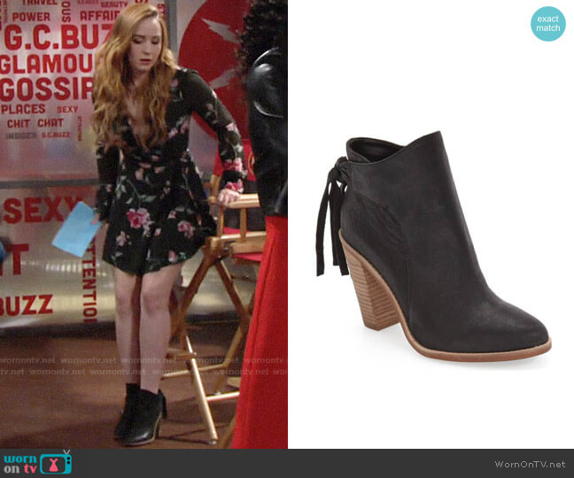 Vince Camuto Linford Bootie worn by Camryn Grimes on The Young & the Restless