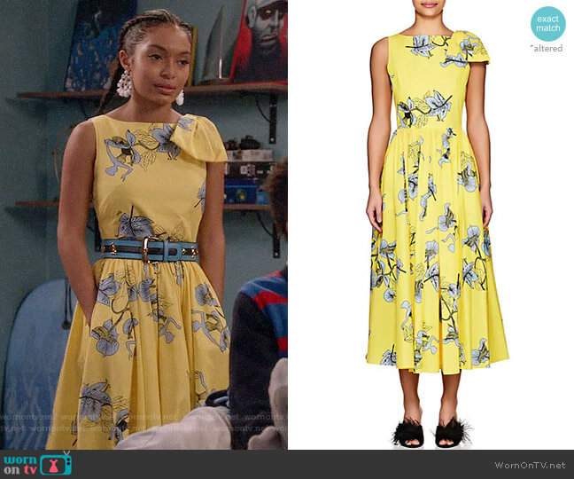 Vivetta Kajam Dress worn by Zoey Johnson (Yara Shahidi) on Blackish