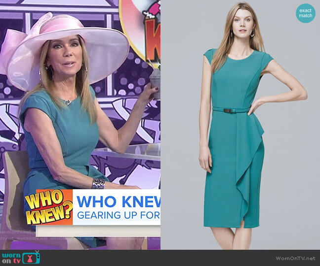 Body Perfecting Flounce Detail Dress by White House Black Market worn by Kathie Lee Gifford on Today