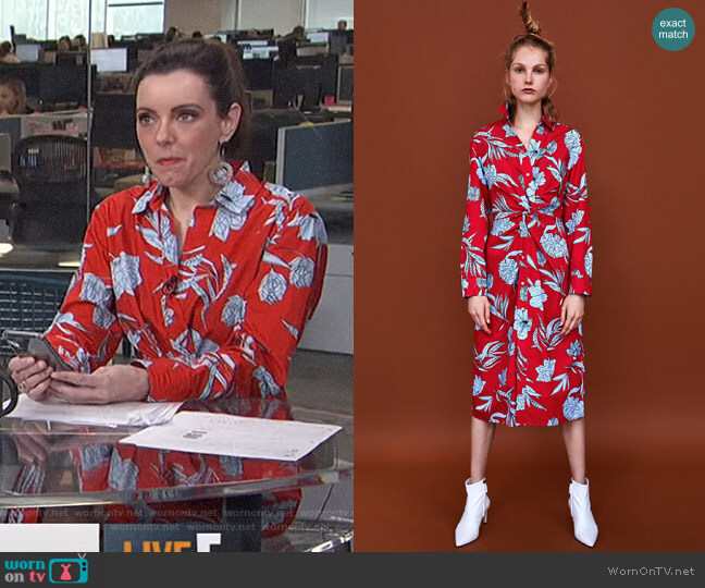Printed Tunic by Zara worn by Melanie Bromley on E! News