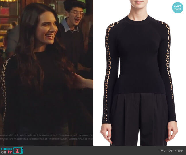Cutout Raglan Sweater by Alexander Wang worn by Katie Stevens on The Bold Type