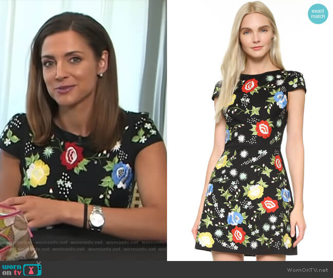 Ellen Dress by Alice + Olivia worn by Paula Faris on Good Morning America