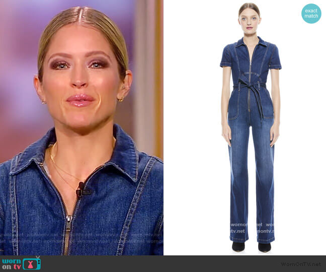 Gorgeous Collar Wide-Leg Jumpsuit by Alice + Olivia worn by Sara Haines  on The View