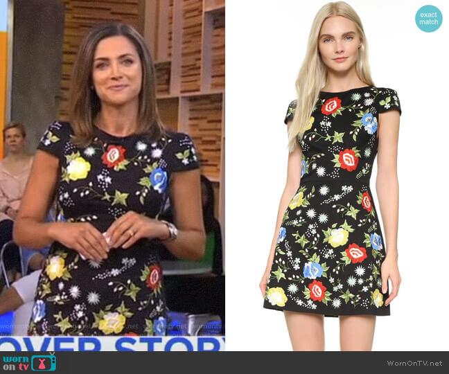 'Ellen' Dress by Alice + Olivia worn by Paula Faris on Good Morning America