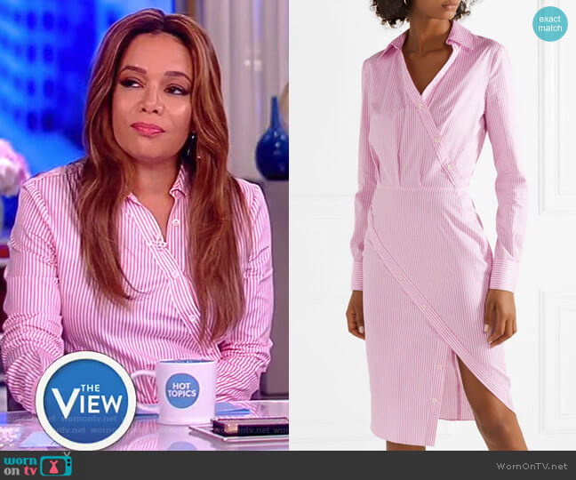 Monday pinstriped cotton-twill shirt dress by Altuzarra worn by Sunny Hostin on The View