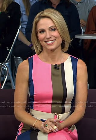Amy's striped midi dress on Good Morning America