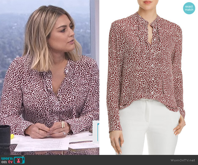 'Holly' Blouse by Anine Bing worn by Carissa Loethen Culiner  on E! News