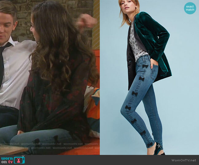 Newton Mid-Rise Skinny Cropped Jeans by McGuire worn by Victoria Konefal on Days of our Lives