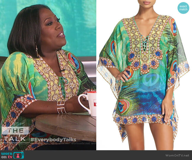 Kashmir Short Kaftan by Asa Kaftans worn by Sheryl Underwood  on The Talk