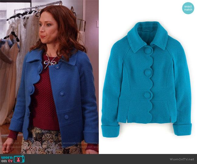'Alice' Jacket by Boden worn by Kimmy Schmidt (Ellie Kemper) on Unbreakable Kimmy Schmidt