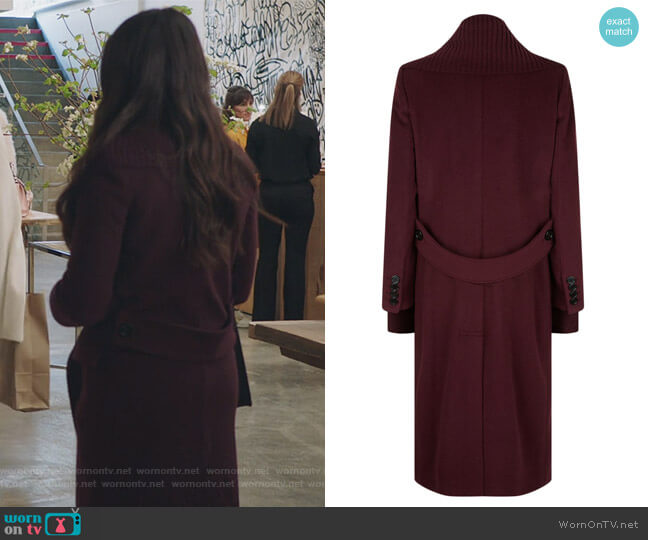 Ribbed Trim Cashmere Coat by Burberry worn by Jane Sloan (Katie Stevens) on The Bold Type