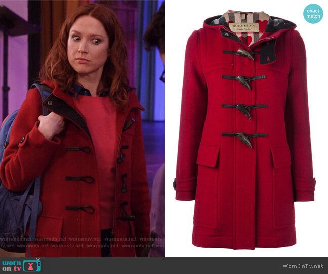Baysbrooke Duffle Coat by Burberry Brit worn by Ellie Kemper on Unbreakable Kimmy Schmidt