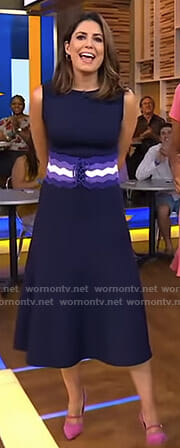 Cecilia's striped corset dress on Good Morning America