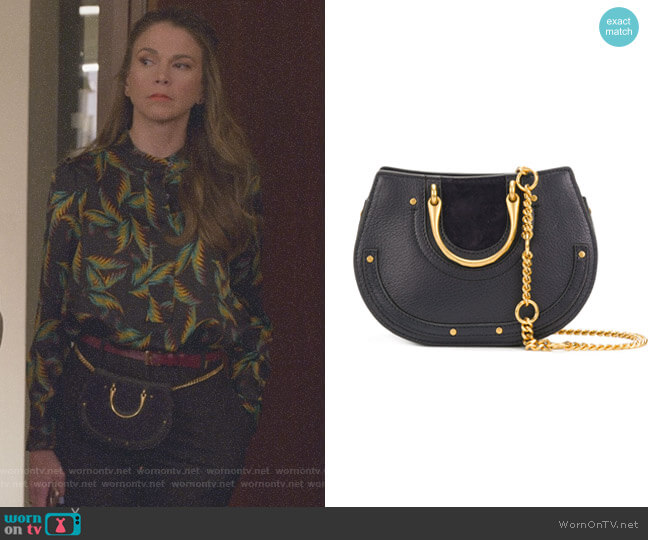 Nile Small Bracelet Bag by Chloe worn by Liza Miller (Sutton Foster) on Younger
