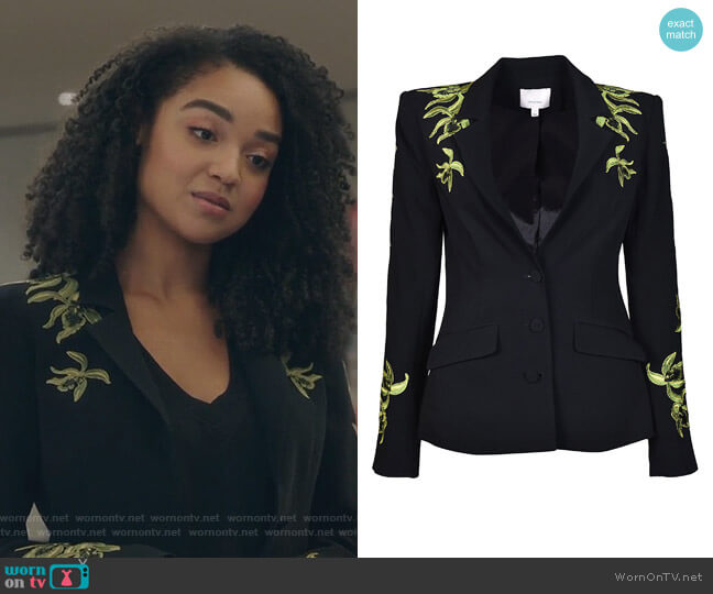 Orchid Pax Blazer by Cinq a Sept worn by Aisha Dee on The Bold Type