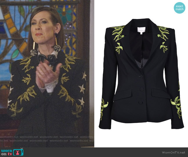 Orchid Pax Blazer by Cinq a Sept worn by Diana Trout (Miriam Shor) on Younger