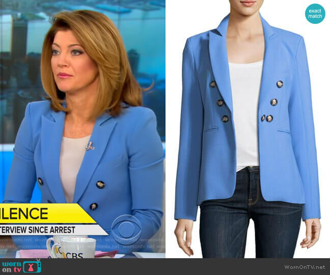 'Colson' Peak-Lapel Blazer by Veronica Beard worn by Norah O'Donnell  on CBS This Morning