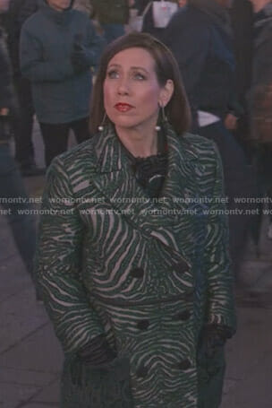 Diana's green zebra coat on Younger