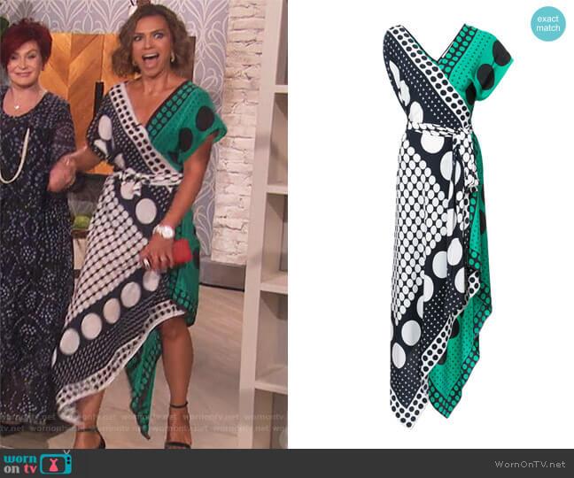 Asymmetric sleeve scarf dress by Diane von Furstenberg