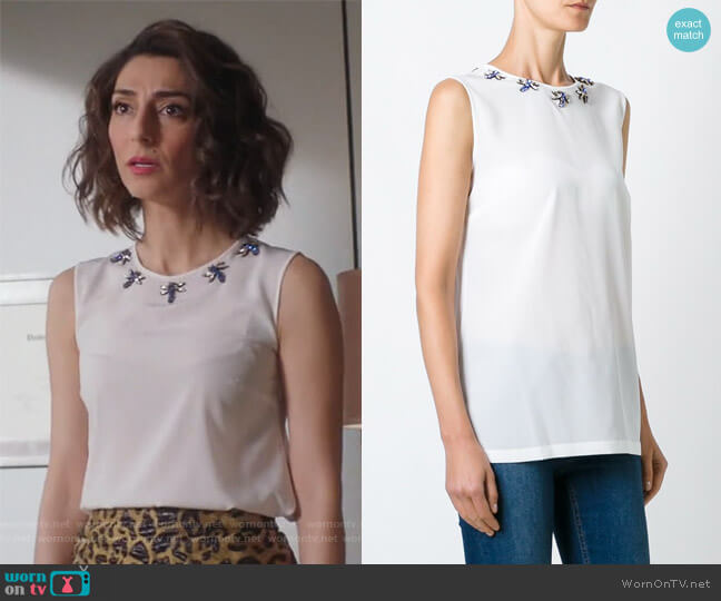 Dragon Fly Tank Top by Dolce & Gabbana worn by Delia (Necar Zadegan) on GG2D