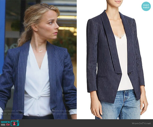 Pinstripe Blazer by Dylan Gray worn by Lizzie Needham (Bojana Novakovic) on Instinct