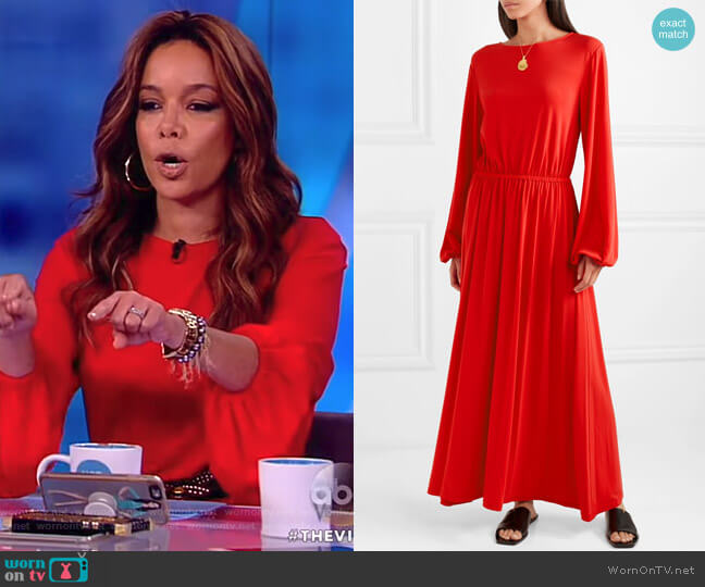 Evy Dress by Elizabeth and James worn by Sunny Hostin on The View